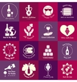 Wine emblems set vector image