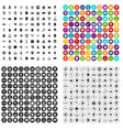 100 invention brainstorm icons set variant vector image