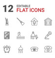 12 old icons vector image vector image