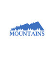 abstract blue mountains with spruce trees icon vector image vector image