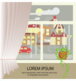 autumn colorful landscape banner vector image vector image