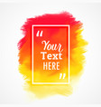 bright yellow and orange watercolor stain vector image vector image