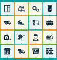 building icons set collection of cogwheel vector image vector image