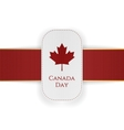 Canada Day paper Banner with red Ribbon vector image vector image