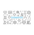 chemistry horizontal linear banner or vector image vector image