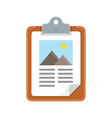 clipboard icon with flat design vector image