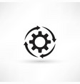 cogs - icon vector image vector image