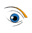cute cartoon eye look emoticon icon vector image vector image