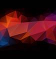 dark orange sunset geometric background vector image