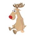 Deer cartoon icon vector image