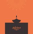 diwali lamp contrast concept design background vector image vector image
