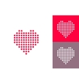 Dotted heart icons set vector image vector image