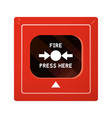 evacuation system the fire alarm vector image vector image