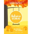 Fall Festival template Bright colourful autumn vector image vector image
