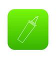 felt tip pen icon green vector image vector image