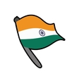 Flag icon Indian Culture design graphic vector image vector image