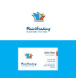 flat sydney logo and visiting card template vector image vector image