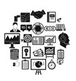 game industry icons set simple style vector image vector image