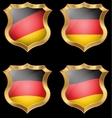 Germany flag on metal shiny shield vector image vector image