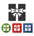 gift box icon in different variants vector image vector image