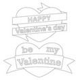 happy be my valentine day black and white poster vector image vector image