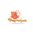 happy pig chinese new year symbol image of vector image