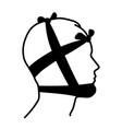 head bandage vector image vector image