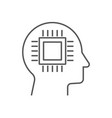 head cyborg icon ai concept vector image