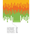 home repairs with roller flat vector image vector image