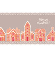 horizontal background with traditional gingerbread vector image vector image