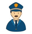 icon man policeman security isolated vector image vector image