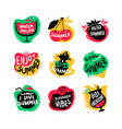 icons set with hello summer watermelon and hot vector image