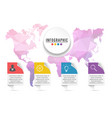 infographic design and marketing icons can be vector image vector image