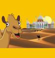 landscape - eastern palace in desert vector image