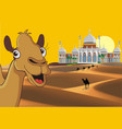 Landscape - the eastern palace in the desert vector image