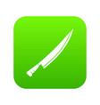 long knife icon digital green vector image vector image