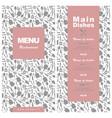 menu template design for restaurant cafe coffee vector image