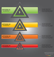 Modern Triangle Template vector image vector image