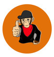 MONKEY GOOD vector image