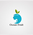 ocean fruit logo icon element and template vector image vector image