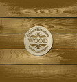 old textured wood background vector image vector image