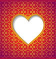 patterned background with a cut heart vector image vector image