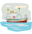 pleasure boat seascape resort beach rest vector image vector image