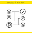 problem solving concept linear icon vector image vector image