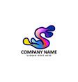 s letter splash logo vector image vector image