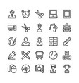 school and education line icons 3 vector image vector image