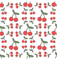 Seamless cherry pattern fruit background vector image