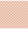 Seamless pattern with hearts in retro style vector image vector image