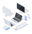 set of most common devices for work and fun vector image