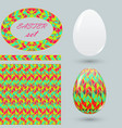set with painted easter eggs and design details vector image vector image